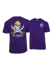 Purple and Gold No Mercy Tee  image $13.95