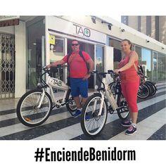 Nuestros clientes de #Leon van a descubrir hoy un nuevo #Benidorm playa de poniente con su carril #bici  punta de cavall rastro el cisne parque de L'aiguera #albir #altea  con nuestras #bicicletaselectricas #taobike #descubreBenidorm