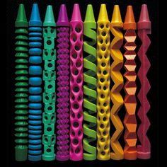carved crayons by Pete Goldlust