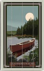 Sunriver Oregon Custom Sign by Suzanne Nicoll