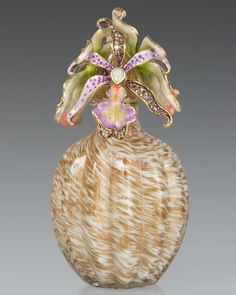 Jay Strongwater Orchid Cluster Perfume Bottle on shopstyle.com