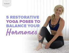 Try these easy restorative yoga poses at home to help you unwind and de-stress after a long day. They'll even help balance out your hormones! Hormon Yoga, Yoga Information, Restorative Yoga Poses, Yoga For Balance, Relaxing Yoga, Cool Yoga Poses, Yoga Benefits, Pilates Benefits, Yoga At Home