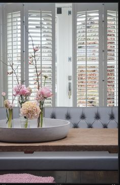 Love the look of these shutters, a great mix for modern decor and Lyon bank Interiors DMF