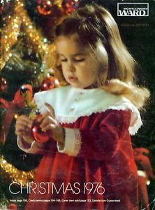 Montgomery Ward Christmas Catalog Wish Book Cover 1976. We loved going through these catalogs and marking stuff we wanted with our initials!