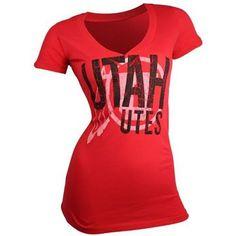 Utah Utes Womens Deep V-neck T-Shirt