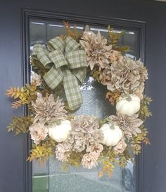Elegant Peony Hydrangea and Dahlia Wreath with Pumpkins, Best Fall Wreath, Autumn Hydrangea Wreath, Minimalist Decor – Grapevine Wreath İdeas. Hydrangea Colors, Hydrangea Wreath, Dahlia, Peony, Elegant Fall Wreaths, Poinsettia Wreath, Pumpkin Wreath, Minimalist Decor, Pumpkins