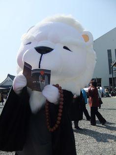 A Mascot of Higashi Honganji Temple in Kyoto, Japan 京都・東本願寺のゆるキャラ