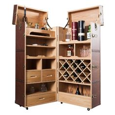 airline trolley als weinschrank dining pinterest. Black Bedroom Furniture Sets. Home Design Ideas