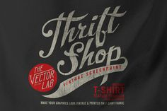 Check out Thrift Shop: Vintage T-Shirt Texture by TheVectorLab on Creative Market
