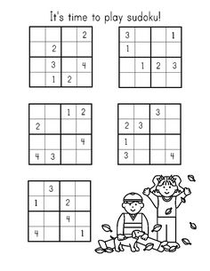 If your kids love learning by challenge, check out our range of printable Sudoku for kids and have fun solving a range of free puzzles. The Sudoku sheets are a great activity for kids. Printable Activities For Kids, Worksheets For Kids, Math Activities, English Activities, Sudoku Puzzles, Puzzles For Kids, Preschool Poems, Art Books For Kids, Kids Homework