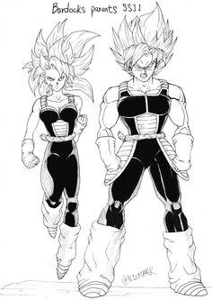 Bardocks parents as super saiyans by scumbagvegito on DeviantArt Character Creation, Character Art, Character Design, Dragon Ball Z, Female Goku, Goku And Chichi, Ball Drawing, Furry Girls, Fan Art