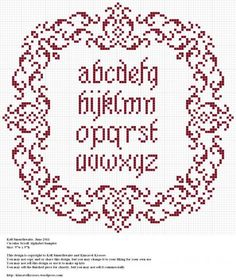 Circular Scroll Alphabet Sampler--maybe change the alphabet to another design inside the frame?