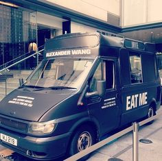 It's time for a break! Are you in #HongKong ? #AlexanderWang just added a sweet little touch to his brand. Add the love for ice-cream, plus the concept of the #foodtruck, plus #fashion… And ta-rah! The #AlexanderWangIceCreamTruck is right here! Go out and get some ice-cream 'a la mode'!