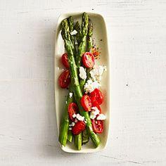 Asparagus with Tomato and Feta Recipe   MyRecipes.com Mobile