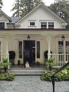 white farmhouse cottage