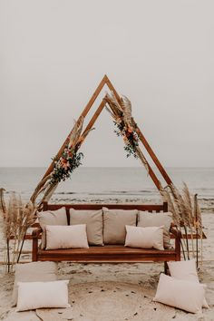 Beach Wedding Aisles, Wedding Arbors, Lakeside Wedding, Outdoor Wedding Centerpieces, Boho Wedding Decorations, Beach Photo Props, Boho Backdrop, Diy Wedding Photo Booth, Taupe Wedding