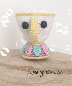 free crochet pattern of chip from beauty and the beast on www.sweetypiedesign.nl