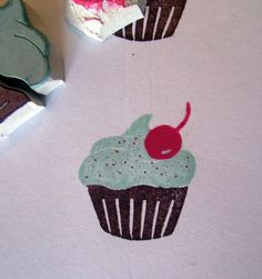 Fluffy Cupcakes Rubber Stamp - 3 Part Set Handmade Stamps, Handmade Gifts, Fluffy Cupcakes, Cupcake Crafts, Sewing, Unique Jewelry, Etsy, Image, Kid Craft Gifts