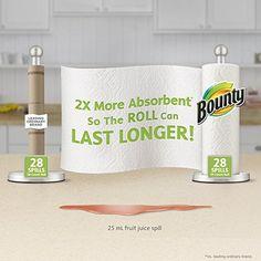 Amazon.com: Bounty Paper Towels, Prints, Big Roll, 6 Count: Prime Pantry