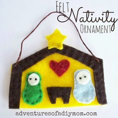 Felt Nativity Ornament - {12 days of CHRISTmas Ornaments} |Adventures of a DIY Mom