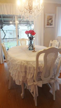 34 top ruffled tablecloth images ruffled tablecloth sewing rh pinterest com