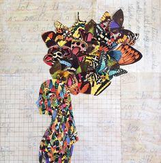 Custom collage silhouette portrait by RachaelGrantCollage on Etsy