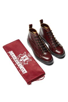 The original George Cox monkey boot from the British shoemakers' archive. Fred Perry Shoes, Urban Fashion, Mens Fashion, Sharp Dressed Man, Oxblood, Men Dress, Casual Shoes, Hiking Boots, Foot Anatomy