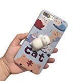 GBSELL Cute Squishy 3D Lazy Cat Soft Back Case Cover for iPhone 7 Plus (B) - http://www.painlessdiet.com/gbsell-cute-squishy-3d-lazy-cat-soft-back-case-cover-for-iphone-7-plus-b/