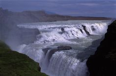 Free stock images of Overview of Rushing Water at Gullfoss Waterfall in Iceland World Pictures, Travel Pictures, Gullfoss Waterfall, Iceland Waterfalls, World 2020, World's Most Beautiful, Beautiful Things, Gods Creation, Earth