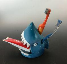 Shark, Toothbrush Holder, Shark Toothbrush Holder, Under the sea , Aquarium…