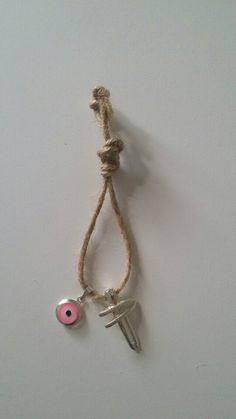 Rustic rope martyrika  with pink eye and cross