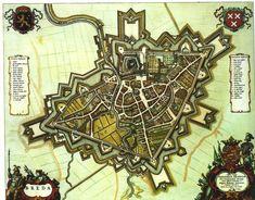 Mooie middeleeuwse plattegrond van Breda