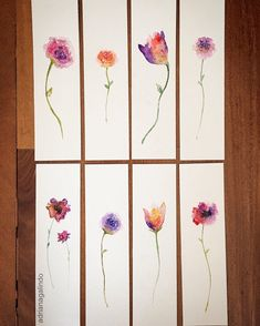 Flowers Gift Water Colors Ideas For 2019 - Lesezeichen - Watercolor Watercolor Bookmarks, Watercolor Cards, Watercolour Painting, Watercolor Flowers, Creative Bookmarks, Diy Bookmarks, Art Hippy, Book Markers, Doodle Art