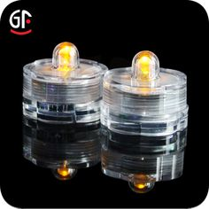 Yellow color of led submersible light.