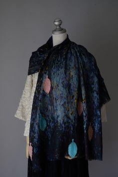 14348 エターミン森プリント ストール  #miyaco #fashion #lace #レース #ストール
