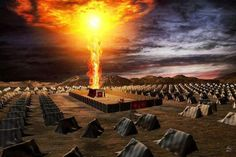 Tabernacle Mishkan Pillar of Fire above the Tent of Meeting