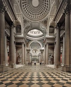 AHMET ERTUG Pantheon, Paris, 2011  Lightjet print, flush-mounted. 221 x 180 cm (87 x 70 7/8 in) Signed in ink, printed title, date and number 1/3 on an artists label accompanying the work. One from an edition of 3 plus 1 artists proof. School Architecture, Historical Architecture, Amazing Architecture, Architecture Details, Architectural Association, Architectural Digest, Pantheon Paris, Interior Photography, Landscape Photography