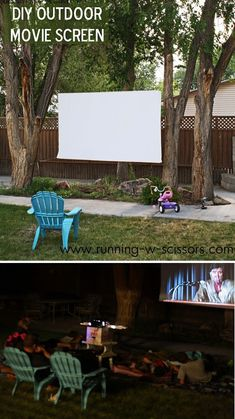 DIY Outdoor Movie Screen | DIY Easy Backyard Projects by DIY Ready at http://diyready.com/easy-backyard-projects/