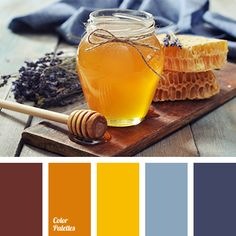 Expressive palette with rich colors. Color of ocher and honey create an expressive combination with wine-red, pale cornflower blue and deep blue-violet. This range will also be adored by cheerful and light people. Decorative elements of interior will set on a positive way, will cause an inflow of creative energy.