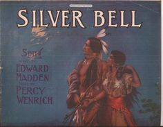 Silver Bell, Vintage Home Decor, Sheet Music COVER ONLY, American Indian Cover Art, Not Complete, Blue Earth Tones, Man and Woman by BettywasaBombshell on Etsy