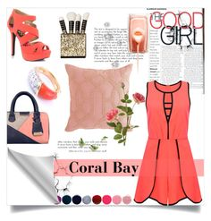 """Spring to Summer: Coral Bay"" by selena-gomezlover ❤ liked on Polyvore featuring Deborah Lippmann, Qupid, Pier 1 Imports, OKA and Van Cleef & Arpels"