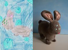 all funny toys taked from http://todayilearned.co.uk/2012/04/28/there-is-a-company-which-makes-toys-based-on-childrens-drawings/