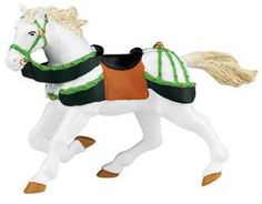 Papo - Green and White Horse Small Figurines, Robin, Safari, Miniatures, Hand Painted, Horses, Fantasy, Knights, Ebay