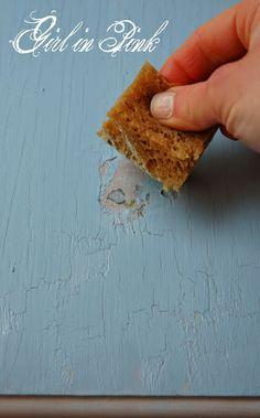 "Artisan Enhancements Crackle Tex - ""pull off"" method - Full tutorial in blog post by Girl in Pink."