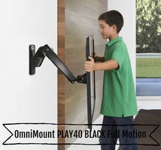 OmniMount Full Motion Interactive Wall Mount for inch Screens provides effortless horizontal and vertical motion adjustment. All wall mounts and interactive wall mounts ship free! Tv Unit Design, Tv Wall Design, Diy Tv, Modern Tv Wall, Modern Living, 42 Inch Tv Stand, Best Tv Wall Mount, Sliding Screen Doors, Tv In Kitchen