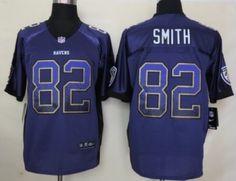 Nike Baltimore Ravens #82 Torrey Smith 2013 Drift Fashion Purple Elite Jersey