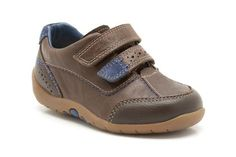 Boys Shoes - Softly Lo Fst in Dark Brown from Clarks shoes