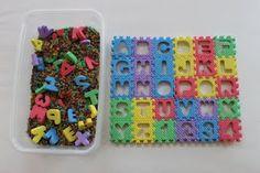 Alphabet Learning Fun fantastic idea for sensory play