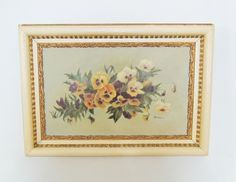 c1900 Delightful VICTORIAN Oil Painting Colorful PANSIES in Deep from premier-antiques on Ruby Lane