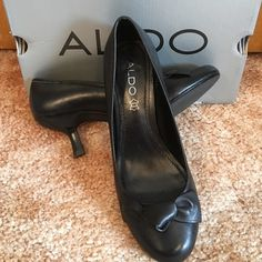 "❤️Just In❤2 1/2"" Heel Aldo Kyrosa Black Size 38 Another great pair of a wardrobe staple. Worn one weekend. Has a tiny scuff on the front left toe that be only be seen when looking really close. I paid $70 for them. Non smoking home. ALDO Shoes Heels"